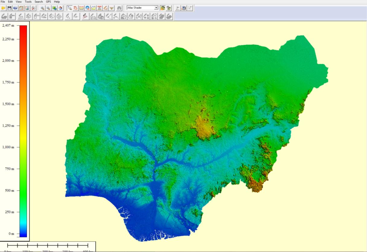 Digital-Terrain-Model-(DTM)-of-Nigeria